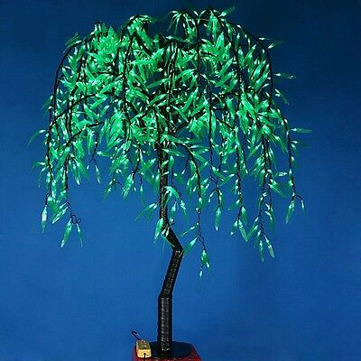 1.2m Height LED Willow Tree Light 336pcs LEDs Green Color Rainproof Indoor