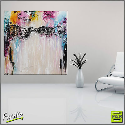 Abstract Modern Painting Textured Canvas Pink 120cm x 120cm - Franko - Australia