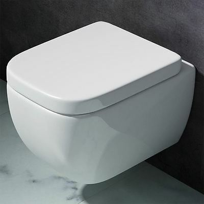 Bathroom Toilet Pan WC Back To Wall Hung Mounted Cloakroom Soft Close Seat 101