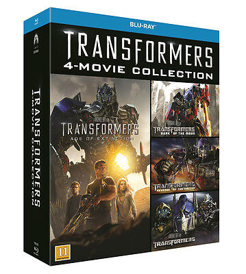 Transformers 4-Movie Collection (Region Free) Blu Ray