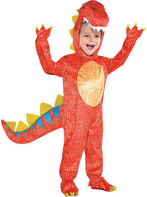 Child Boys Dinomite Dinosaur T Rex Kids Fancy Dress Halloween Costume Ages 3-9