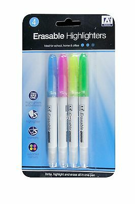 Erasable Highlighters Two in One Highlighters and Erasers Assorted Colours