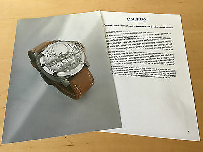 Press Kit - PANERAI Luminor Blackseal 44mm SIHH 2002 The watch is NOT INCLUDED