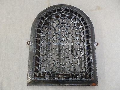 Antique Cast Iron Arch Top Dome Heat Grate Wall Register Old Vintage 1696-16