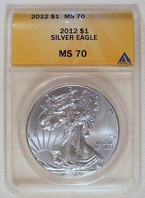 ANACS MS70 2012 American Silver Eagle!! PERFECT COIN MUST SEE!!