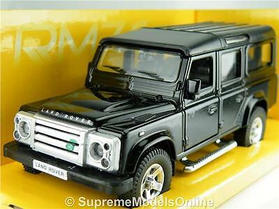 Land Rover Defender Lwb Model Car 1/36Th Scale Black Packed Rmz Issue K8967Q~#~