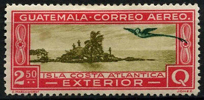 Guatemala 1935-7 SG#319, 2q50 Sage-Green And Carmine MH #D34063