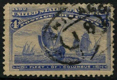 USA 1893 SG#238, 4c Columbian Exposition Used #D34020