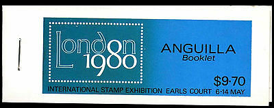 Anguilla 1980 SG#SB4 London Stamp Exhibition Stamp Booklet MNH #C37464