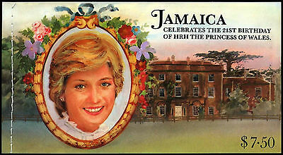 Jamaica 1982 SG#SB17 Princess Of Wales 21st Birth Stamp Booklet MNH #C37474