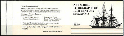 Singapore 1990, Lithographs Used FDI Booklet #D33499