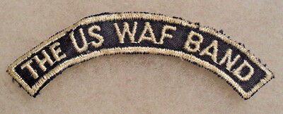 Wwii Era Twill Var Of The Us Waf Band Tab Emb On Ribbed Twill No Glow Ctn Gze Bk