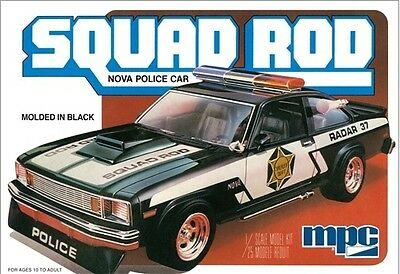 MPC 1:25 1979 Chevy Nova Squad Rod Police Car Model Kit MPC851