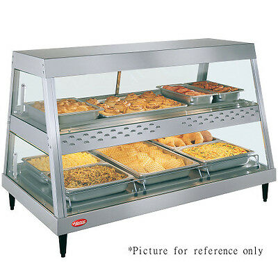 Hatco GRHD-3PD See-Thru Countertop Heated Display Case with 3 Pan Dual Shelf