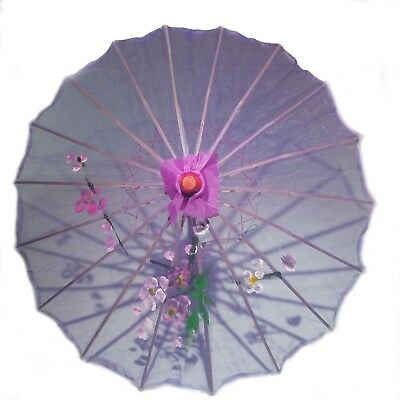 Purple Transparent Chinese Parasol 22in 160-10 S-2594