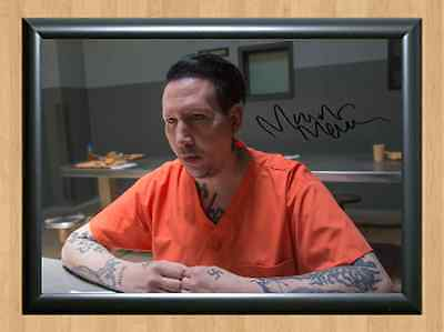 Marilyn Manson MM Sons Of Anarchy Signed Autographed A4 Print Photo Poster S6 S7