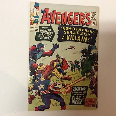 Avengers 15 Marvel Silver Age Comic Book Death of Zemo Vintage