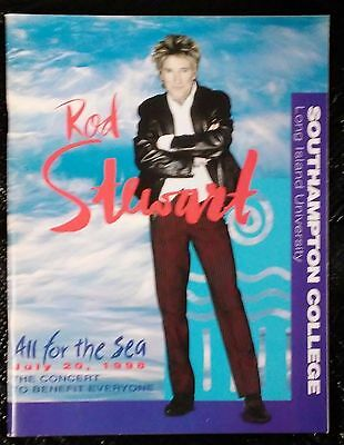 ROD STEWART All For the Sea Benefit 1998 CONCERT PROGRAM
