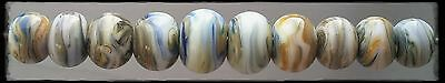 PGR Lampwork ~Marbled Kronos~ Set of 10 *sra* OOAK