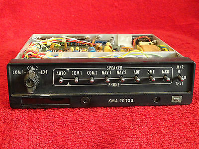 King Kma 20 Marker Beacon Receiver Audio Panel P/n 066-1024-03 Core