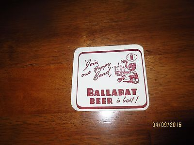 "1 only ""RARE"" BALLARAT BREWERY ""CARTOON"" 1952 Issue collectable COASTERS"