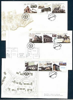 ARCHITECTURE HOUSING IN CANADA 1998 Scott 1755 on 3 FDC's