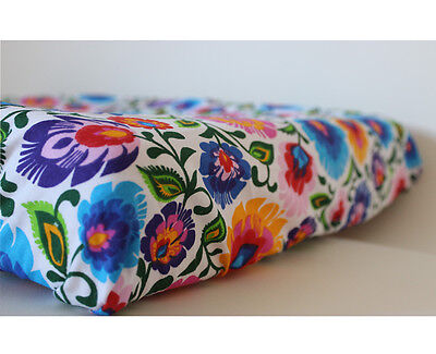 GOOSEBERRY Fitted Change Mat Pad Table Cover Cotton Folk Flowers