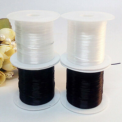 2 Spools Elastic Stretch Beading Stringing Cord Thread Bracelet Necklace Jewelry