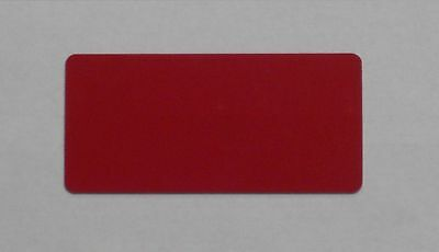 500 Blank PVC Plastic Photo ID Red Credit Card CR50 24Mil