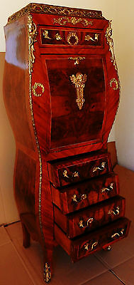 Gorgeous French Louis Style Abattant Desk Secretary Cabinet Chest of Drawers