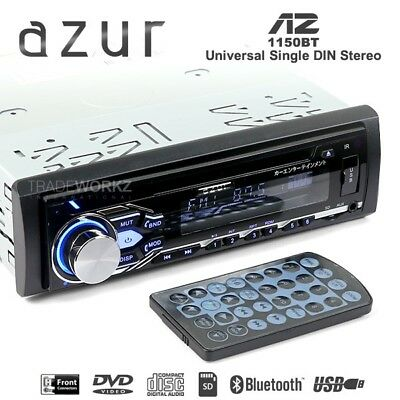 New AZUR AZ-1150BT Single DIN USB Bluetooth Car DVD Player Radio Stereo (Japan)