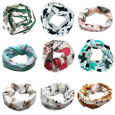 Kids Scarf Toddler Warm Printed Scarf Boys Girls Collar Scarves Wrap Neck Warmer