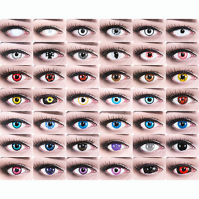 Crazy colored lenses vampire zombie lenses for Carnival mini sclera contacts