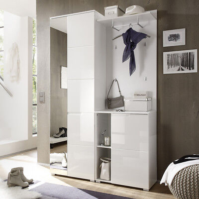 garderobenschrank flurgarderobe schrank wei hochglanz. Black Bedroom Furniture Sets. Home Design Ideas