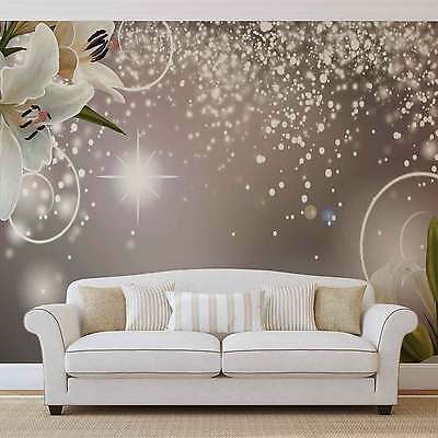 Luxury Flowers Design WALL MURAL PHOTO WALLPAPER (3055DK)