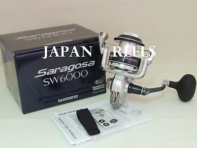 New Shimano Saragosa Sw 6000 Srg 6000 Sw Spinning Reel *1-3 Days Fast Delivery*