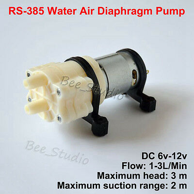 DC 6V~12V Small RS-385 Water Pump Micro Diaphragm Pump Pet Fish Tank Aquarium