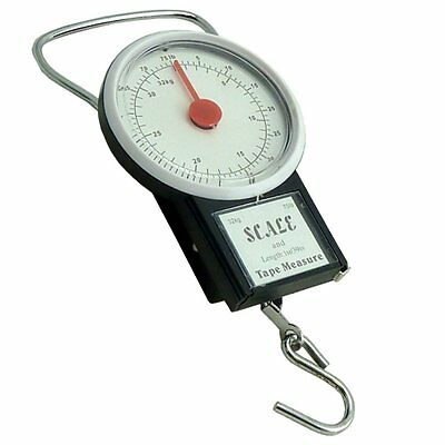 32kg Baggage Scales Tape Measure Holiday Luggage Weight Suitcase Travel Bag Fish