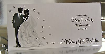 Personalised Wedding Day Gift Wallet for Money/Voucher/Gift Card