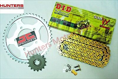 Suzuki GSXR1000 K1 to K6 2001 to 2006 DID Gold X-Ring Chain & JT Sprockets Kit
