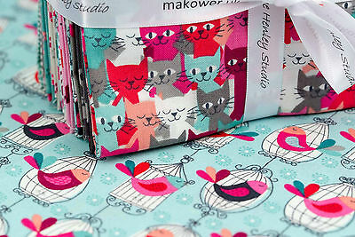 Makower Cats 100% cotton fabric, Quilting, Sewing, Patchwork Fat Quarters