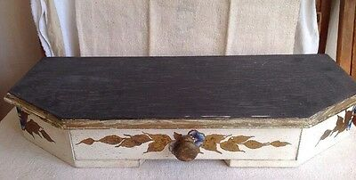 Vintage Wall Drawer / Painted Florentine Design 54 X 24 cm Hallway Home Decor