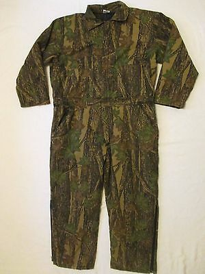 Mens XXL Rebark Camouflage Insulated Coveralls Green Brown Camo Hunting Suit 2XL