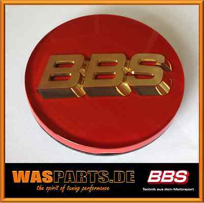 BBS Original Alloy cover Emblems Center Caps Badges red/gold 2 13/16in TypB