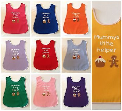 New Boys Girls Age 2-5 Years Poly/cotton 'mummys Little Helper' Apron Tabard