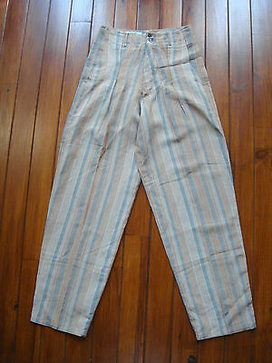 Vintage Marithe François Girbaud Carrot Striped Pants High Waisted  T. 42