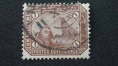 1888/1906- EGYPT- SPHINX AND PYRAMID- SCOTT 43a A18 1M- ME
