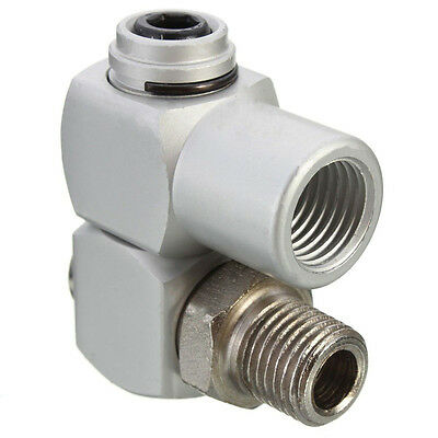 "Universal 360 Swivel 1/4"" BSP Air Hose Connector Adapter Flow Aluminum Tool Hot"