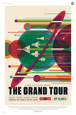 The Grand Tour - A Voyage of a Lifetime - NASA JPL Space Tourism Travel Poster -