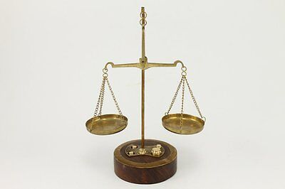 Vintage Brass Apothecary Scale Balance With Weights Look